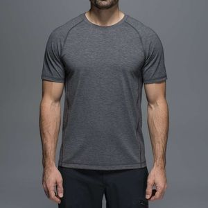 LULULEMON Protean Short Sleeve Heathered Black